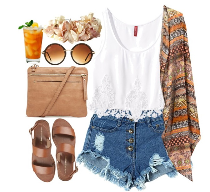 tank top, shorts and sandals outfit