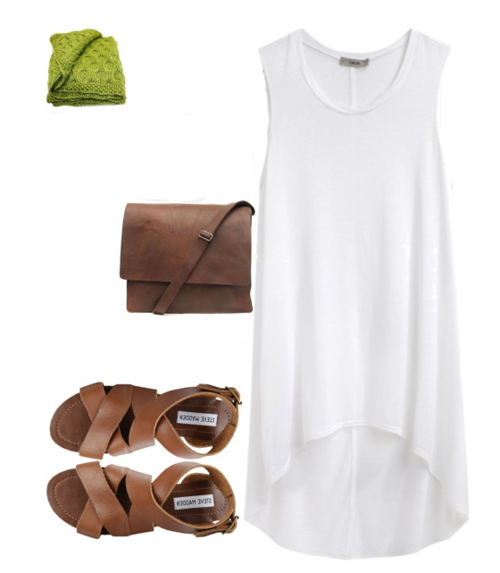 tank dress with sandals