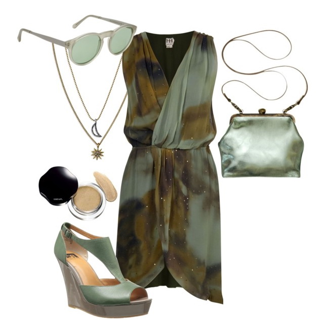 hippie style with v-neck ensemble for special events