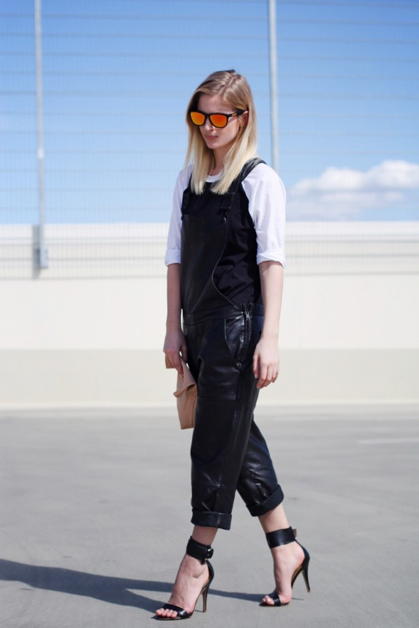 black overall outfit