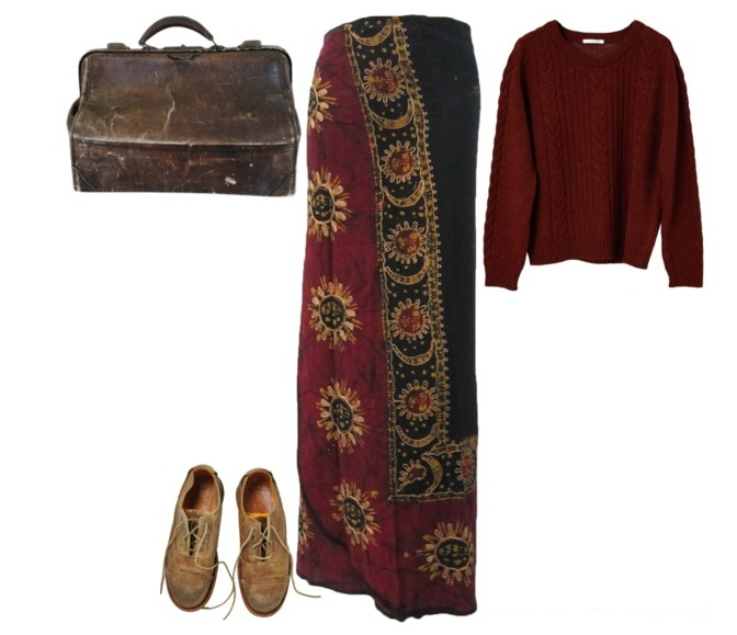 vintage hippie outfit
