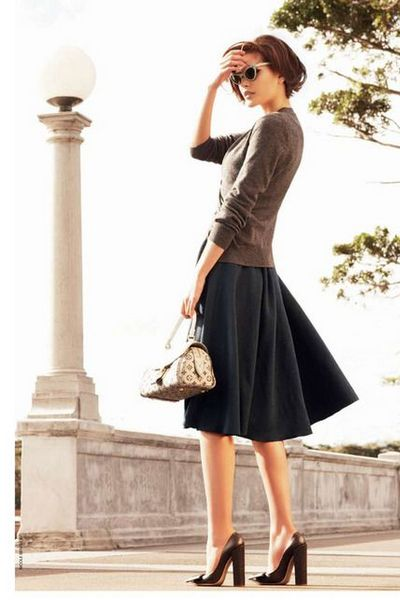 a line skirt styles for autumn-winter