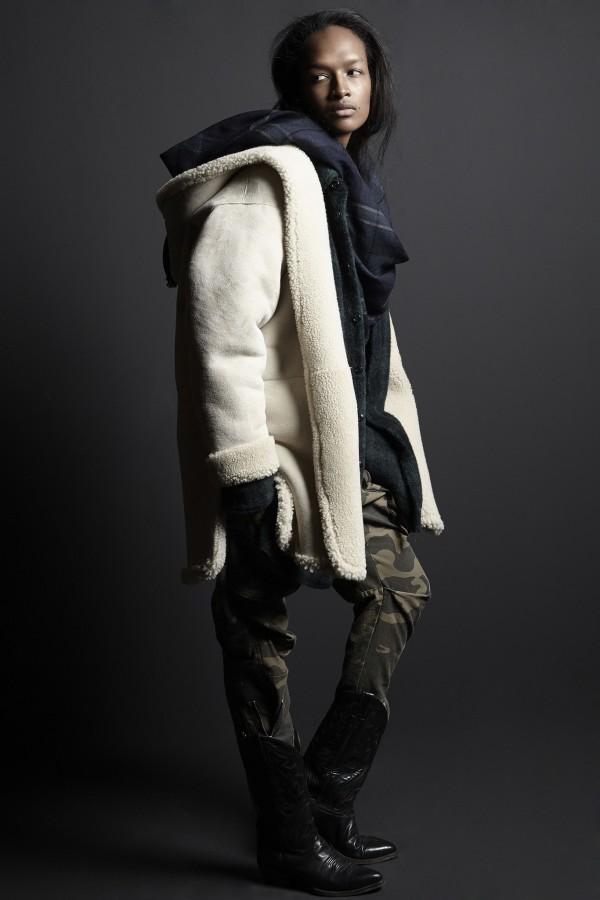 winter shearling coats & jackets