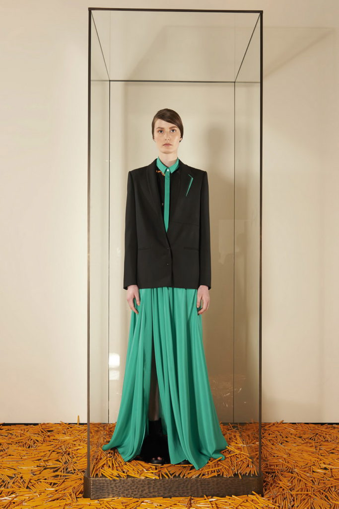 green maxi dress with women's blazers & suit jackets