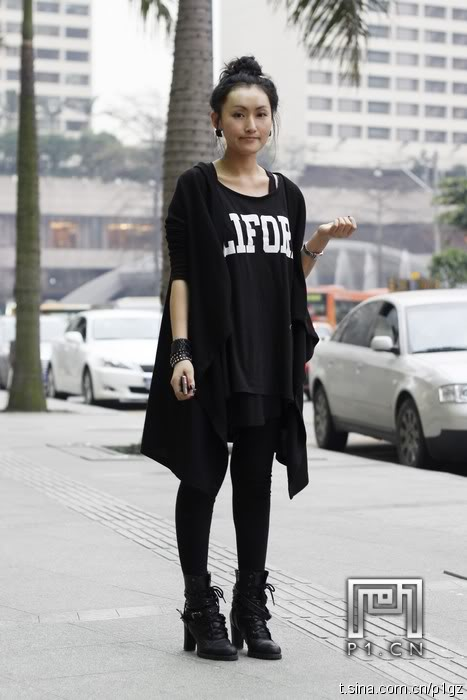 chinese fashion black street style