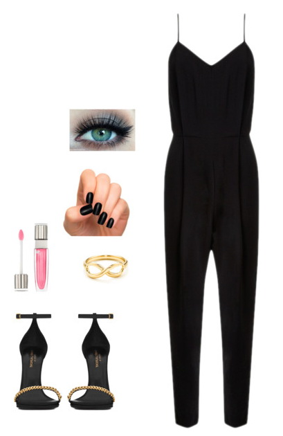 black  outfit with jumpsuits