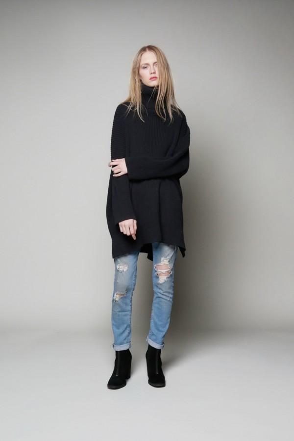 black long sweater for winter