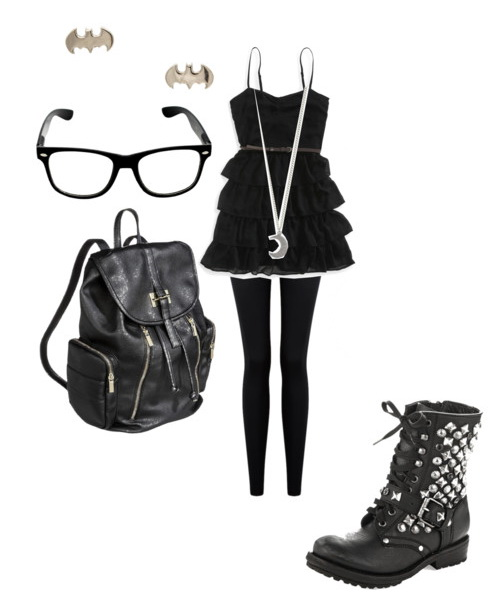 black outfit for rockers