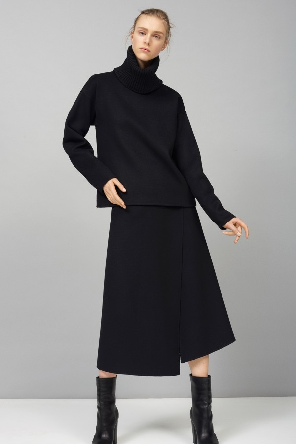 black turtleneck sweaters outfits