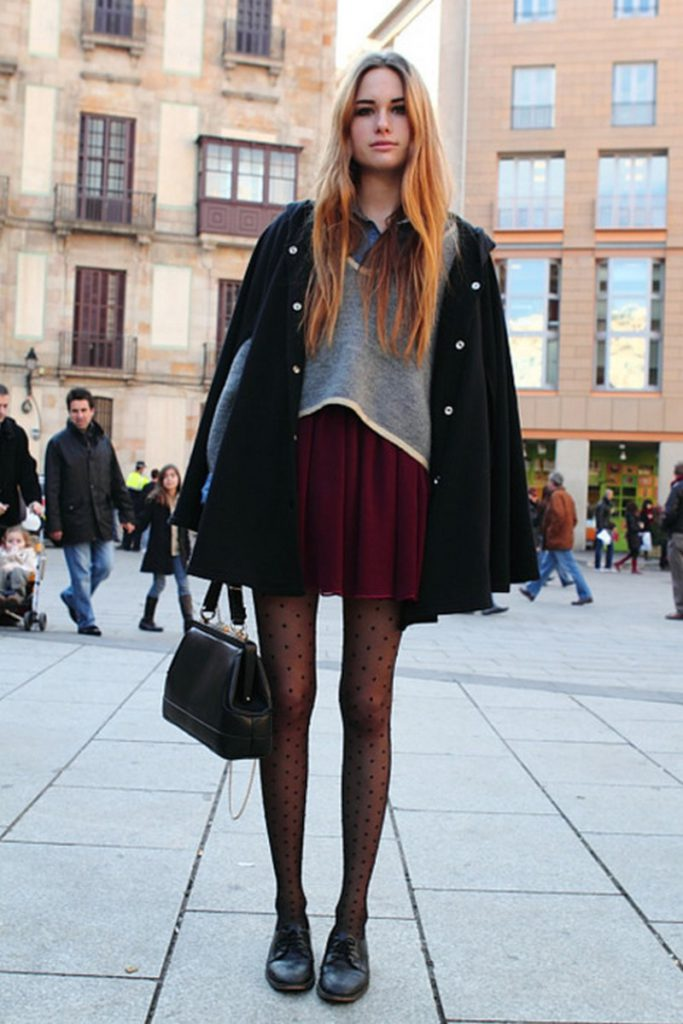 look with poncho & cape coats for girls