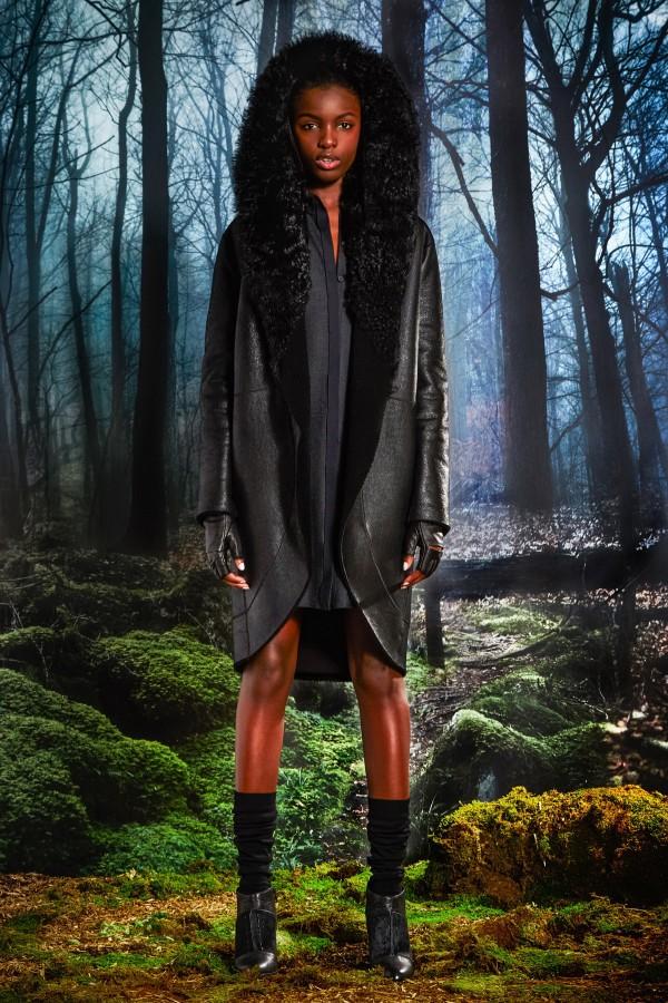 long black shearling coats & jackets