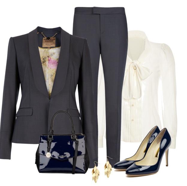 black pants suit for women