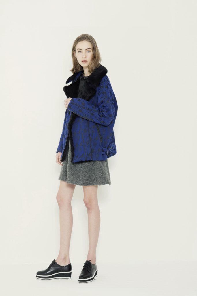 blue shearling jacket