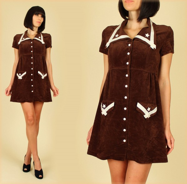 boho chick brown dress