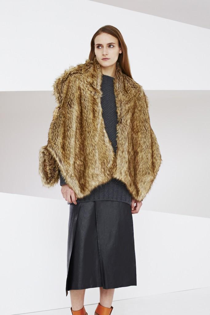 warm brown winter poncho & cape coats