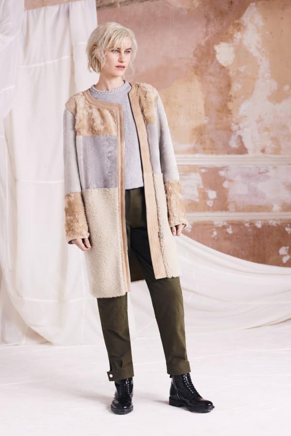 casual camel shearling coats & jackets