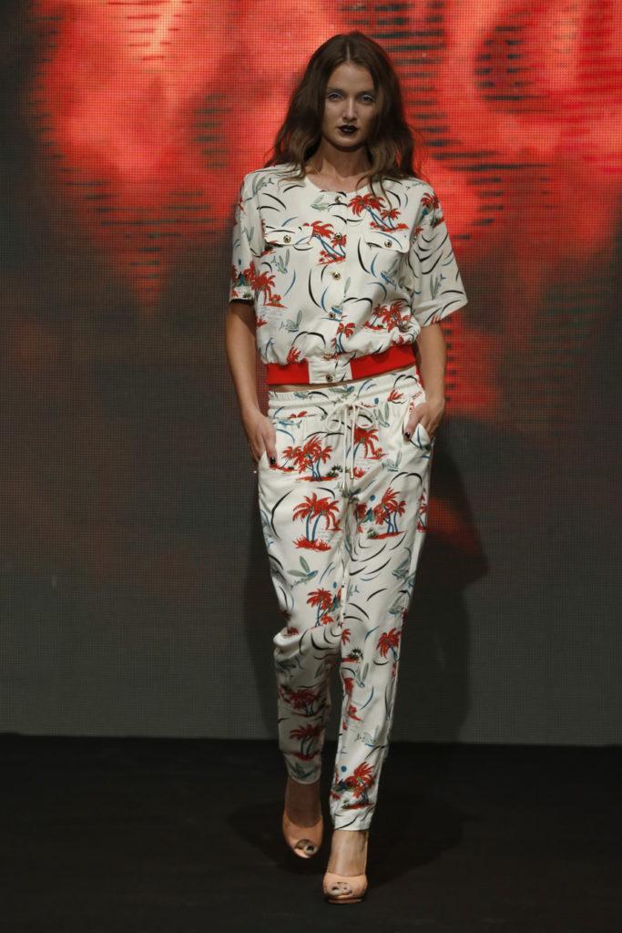 floral sports suit