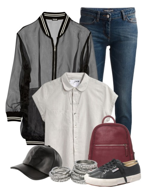 jacket jeans and baseball hat for women