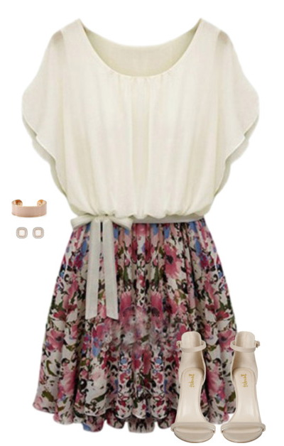 casual floral outfit
