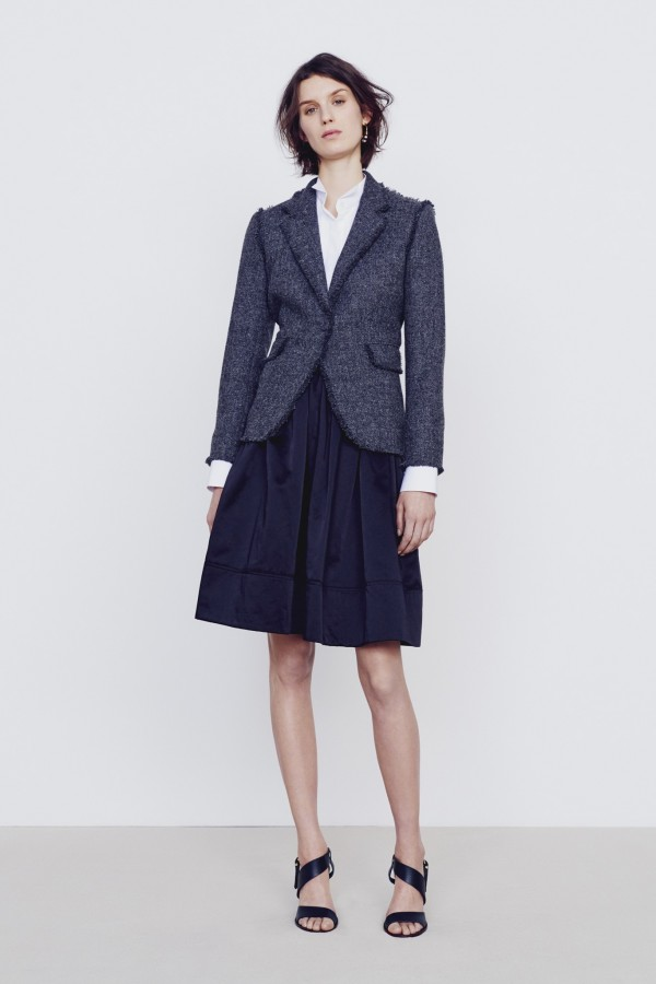 classic blue navy women's skirt suit