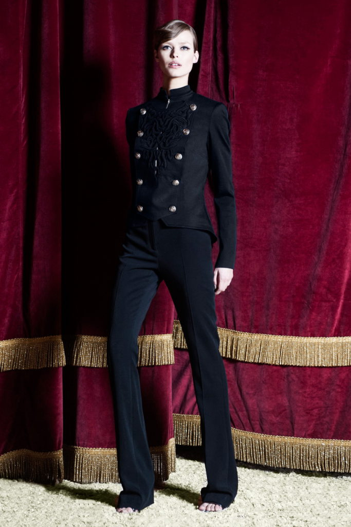 suit with sailor style buttons