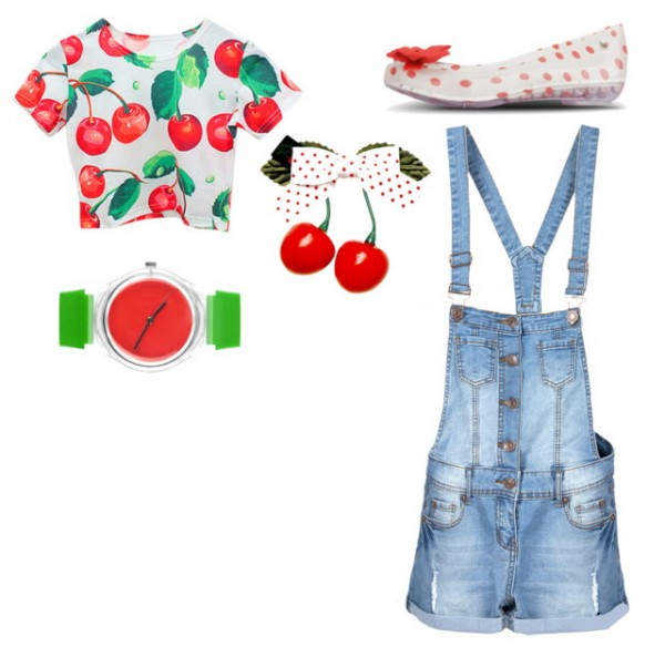 dungarees denim overall & short overalls colorful outfit