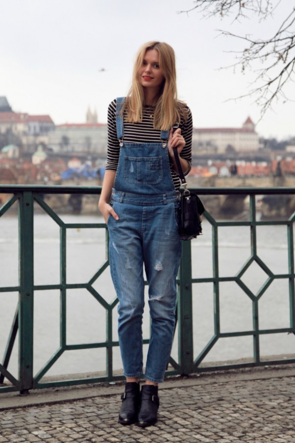 dungaree look for cold days