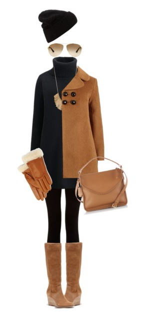 fall outfit with dress and leggings