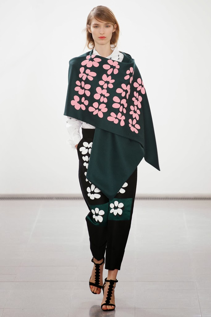floral winter cape