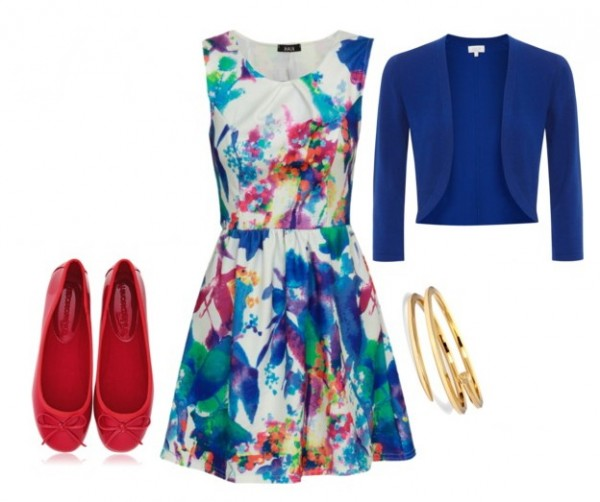 floral print dresses are in style