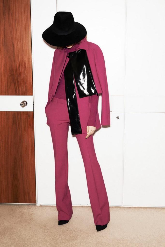 fucsia women's suit