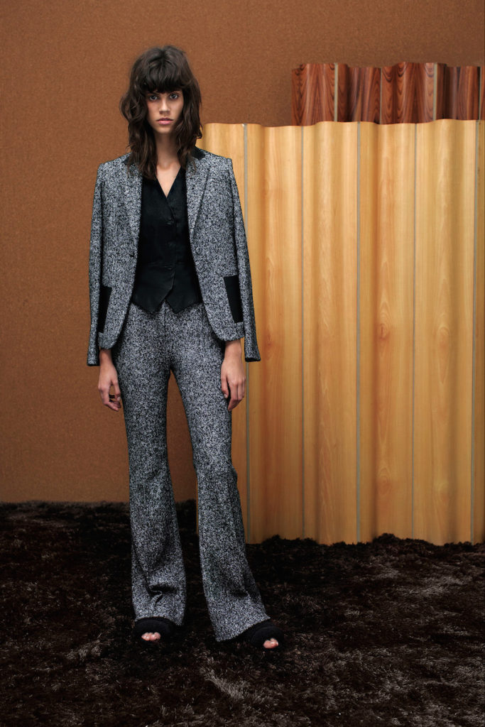 gray pant suits
