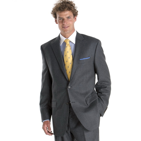 gray pinstripe suits