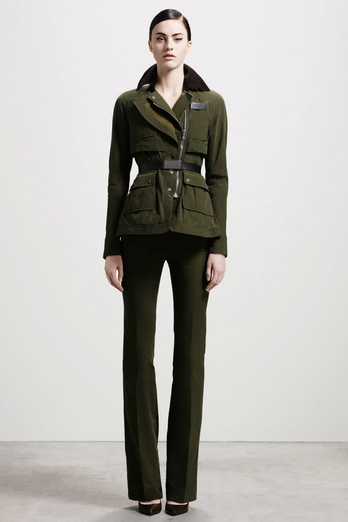 military fashion suit