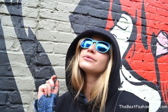 hoodie with sunglasses