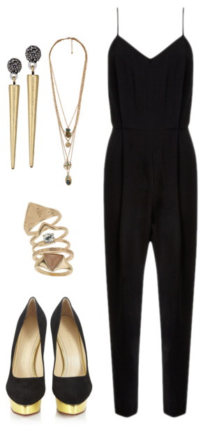 jumpsuit and accessories