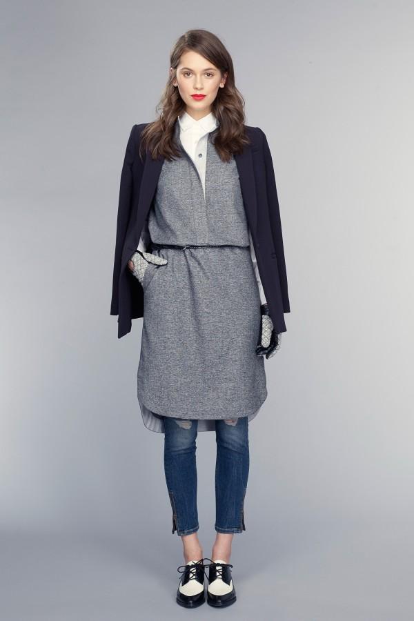 how to wear a blazer over a dress