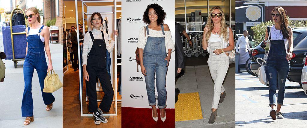 celebrities in dungarees denim overall & short overalls