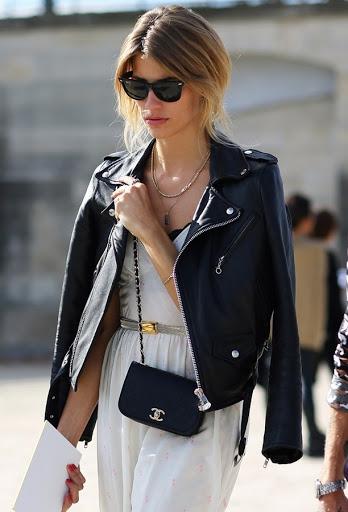 how to wear a biker leather jacket