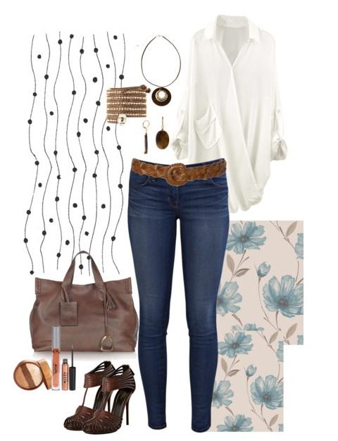 ways to wear loose chiffon shirt blouses