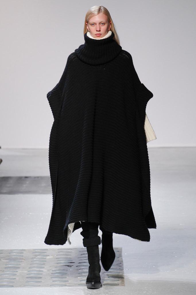 long black poncho