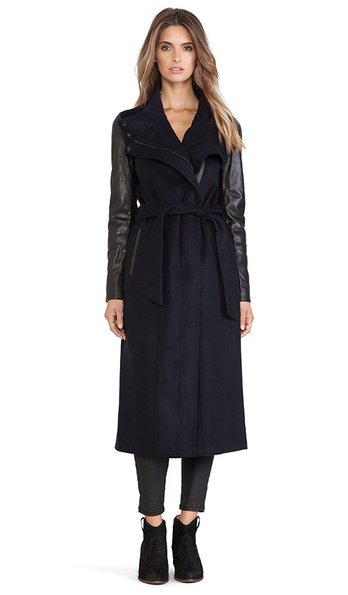 long blue coat for fall winter