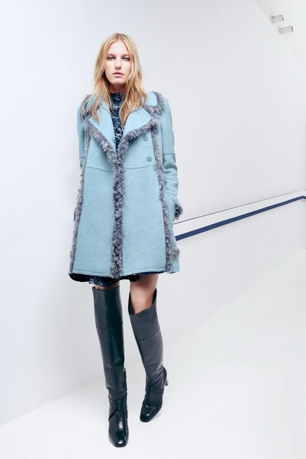 chic light blue coat for winter