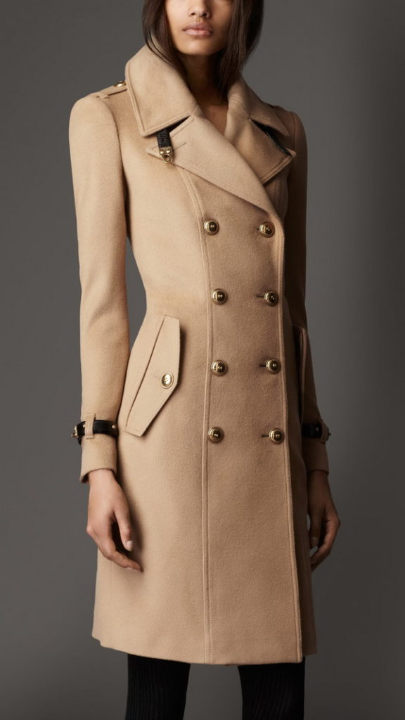 coat with large buttons