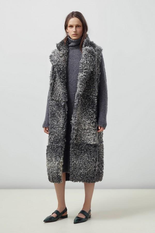 long gray coat for women