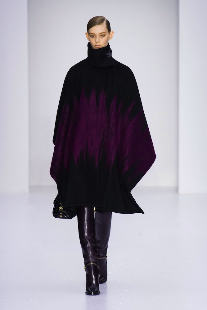 long purple cape