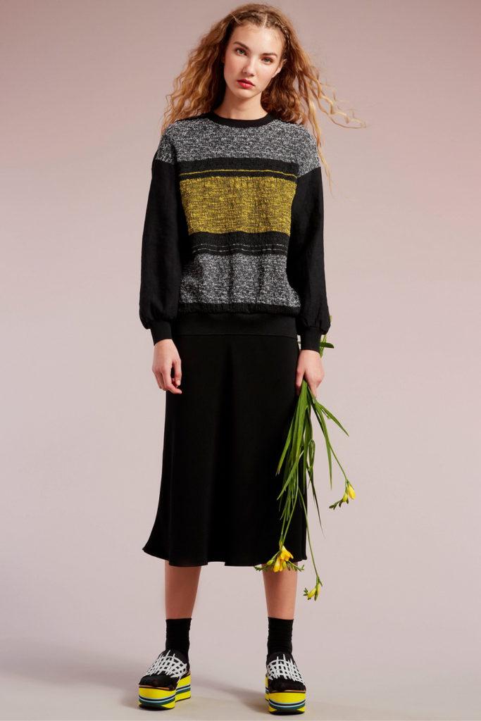 black midi skirt for fall