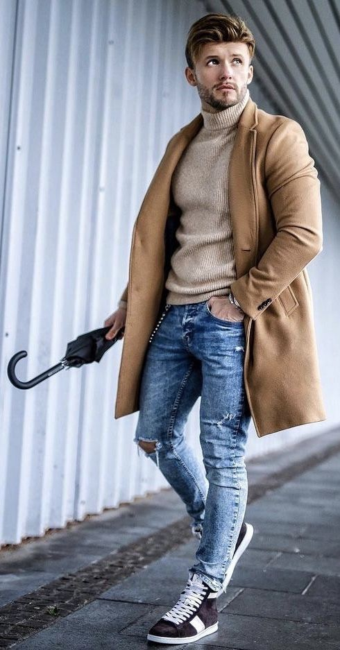 men casual winter outfit