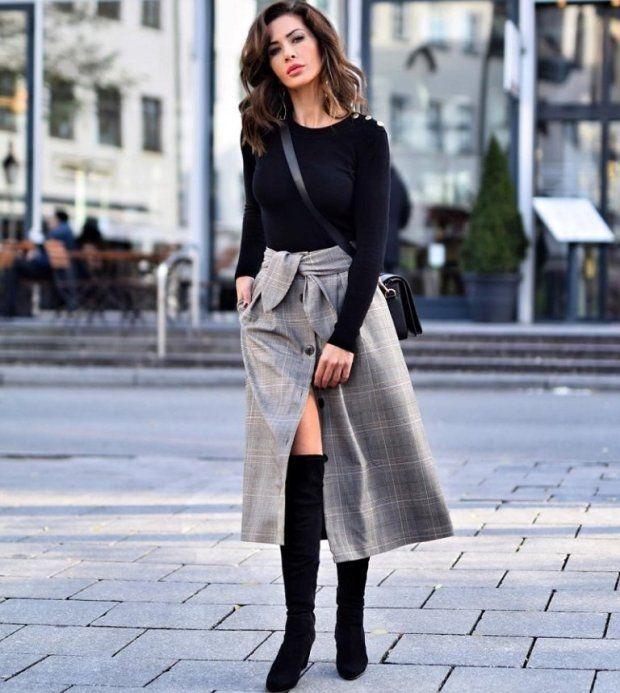 midi skirt trendy look