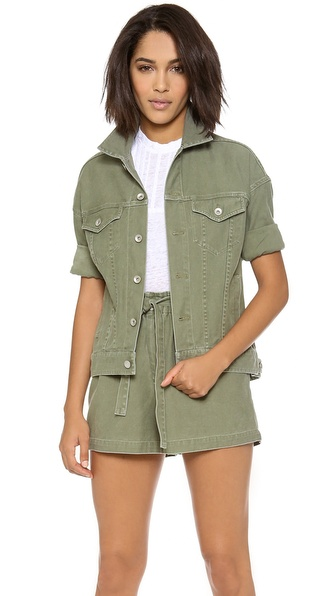military green outfit